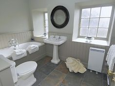 Grey bathroom  @Amy Porter- this just might incorporate most of what you told me this morning that you want in your bathroom...