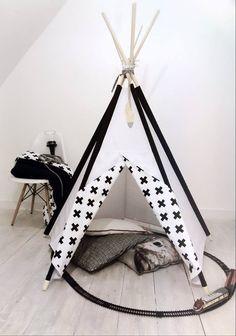 littlenomad teepee tipi wigwam play tent handmade white black scandi kidsroom https://www.facebook.com/HelloLittleNomad