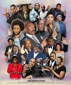 Who is your favorite comedian? This art print by Wishum Gregory is a montage of a variety of famous modern day African American comedians.