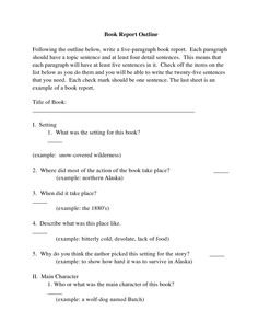 outline for book report simple paragraph book review or  simple 5 paragraph book review or report outline form