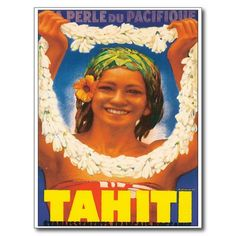 Le Tahiti vintage Cartes Postales | Zazzle