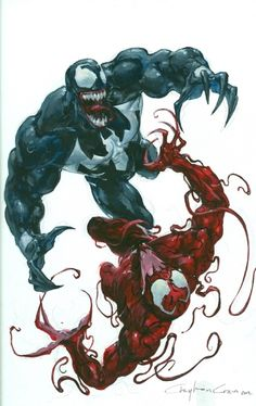 Venom vs. Carnage by Clayton Crain