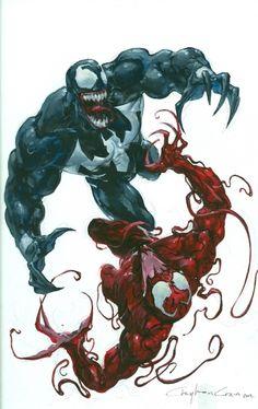 Venom vs. Carnage by Clayton Crain