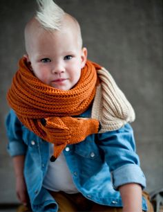 red fox scarf for kids