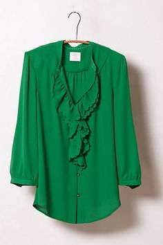 Ruffled Picea Buttondown - this would be awesome in any of the colors, except the plum would be fantastic for Fall