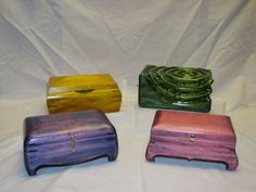 Dyed Keepsake Boxes