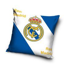Bielo modrá obliečka na vankúše motív Real Madrid