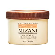 Mineral oil and petrolatum-free.  Naturally curly hair in all its beautiful shapes and forms can lose its shine if it becomes dry, damaged or brittle. The newest solution: Mizani...