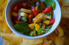 Summer peach salsa - SOO fresh and delicious!