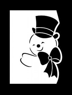 Рождественский Снеговик с бантом Кра - CUP710040_1051 | Craftsuprint