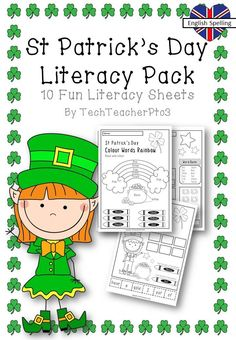 St Patrick's Day Literacy Pack - 10 English and Reading sheets to celebrate St Patrick's Day