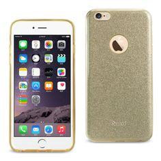 Reiko Iphone 6/6Splus 5.5 Glitter Glam Craystal Bling Tpu Case Gold