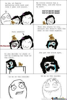 I hate Rage Comics but this made me lol Rebecca Hill - freetime. Derp Comics, Rage Comics, Funny Comics, Stupid Funny, Funny Cute, Hilarious, The Funny, Troll Meme, Comic Character