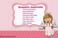 Onnittelukortti koululaiselle Mothers Love, Happy Mothers Day, I Need A Hug, Cards, Angeles, Frozen, God, Dios, Angels