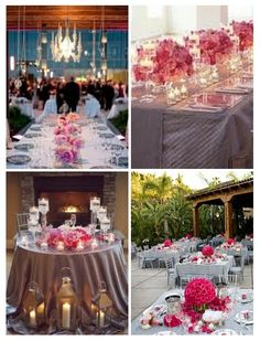 Pink And Gray Wedding Reception | Wedding Color Palette: Pink and Grey - Weddings By the Color ...