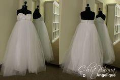 Perfect princess gown for a maternity wedding dress! #maternityweddingdress info@Chiqwawa.co.za Pretoria, South Africa