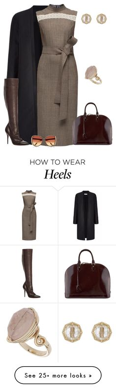 """outfit 3024"" by natalyag on Polyvore featuring Lattori, Max Studio, Louis Vuitton, Grace Lee Designs, Topshop and River Island"