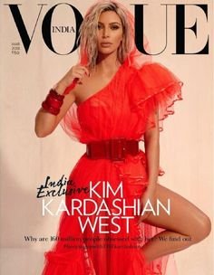 Kim Kardashian praises Kris Jenner in Vogue India Red hot: The reality television star admitted that she 'didn't actually' imagine her incredible empire growing to the size it is today Vogue Covers, Vogue Magazine Covers, Fashion Magazine Cover, Fashion Cover, Kim Kardashian Vogue, Looks Kim Kardashian, Kardashian Style, Kardashian Jenner, Kim Kardashian Magazine