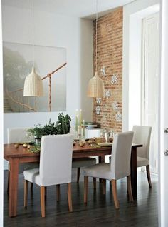 Ikea Dining with Stornas/Henriksdal Living Room And Dining Room Decor, Ikea Dining Room, Dining Room Design, Dining Area, Dining Chairs, Interior Architecture, Interior Design, Room Setup, Beautiful Interiors