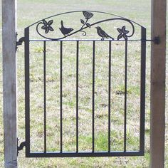 Metal Art Iron Garden Gate with Birds and Flowers by ModernIronworks on Etsy https://www.etsy.com/listing/128055333/metal-art-iron-garden-gate-with-birds