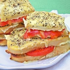 Now this is a grilled cheese sandwich.  My mouth waters just looking at the picture. Herbs de Provence Grilled Cheese