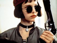 """Natalie Portman in the """"The Professional""""- cool style for a 12-year-old"""