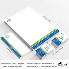 BIP Designed for Amirtham rice mill Best Web Development Company, Rice Mill, Brand Identity Pack, Letterhead, Business Branding, Design, Brand Identity Design
