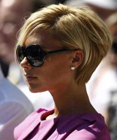 Victoria Beckham Blonde Short Bob Cut