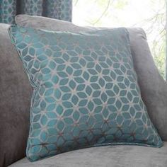 Geo Teal Cushion
