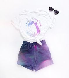 """The perfect tee for any magical unicorn! This """"You Are Magical"""" relaxed fit tee is the softest cotton, machine washable and preshrunk. The printed lettering is non-bleeding and a mix of gorgeous pastels! Cute Girl Outfits, Kids Outfits Girls, Teen Fashion Outfits, Cute Casual Outfits, Cute Outfits For Kids, Cute Summer Outfits, Girl Fashion, Preteen Fashion, Teenage Outfits"""