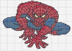 Various Spiderman cross stitch charts
