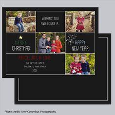 https://www.facebook.com/BugandBirdCreations   Custom printable 5x7 Christmas card. Files sent via-mail so that you can have them printed wherever you choose.
