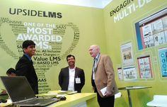 Amit Garg and Saurabh Deshlehra share a light moment with Steve Higgins