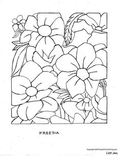 free printable coloring pages | Flower Coloring Pages - Flowers Coloring Sheets