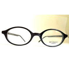 1e89623dbd New Kio Yamato Eyeglasses Black Horn Rim Cateye 45-19 Silver Japan Glasses  Women