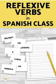 Are you practicing daily routine and reflexive verbs in your Spanish class? Check out this puzzles, printables, worksheets, speaking activities, and games to use with your middle school and high school students! Digital and printable options are included so you can use these simple lesson plans for your Spanish classroom! Master los verbos reflexivos with these easy to use station activities and review games that are no or low prep and so fun! Spanish Classroom, Teaching Spanish, Middle School Spanish, Spanish Lesson Plans, Spanish 1, Spanish Activities, Review Games, High School Students, Sentences