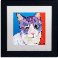 Trademark Fine Art Nugget Canvas Art by Pat Saunders-White, White Mat, Black Frame, Size: 11 x 11