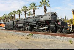 UP Railroad: Union Pacific Locomotive: Steam Location: Ontario, California, USA Locomotive UP Train ID: Photo Date: January 2014 Big Boy 4014, Old Steam Train, Tramway, Union Pacific Railroad, Train Truck, Norfolk Southern, Train Art, Train Pictures, Old Trains