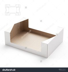 Storage And Retail Tray Box With Die Line Template Stock Photo 318876047 : Shutterstock