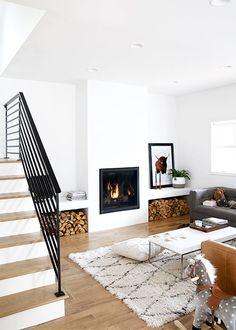 Cozy Modern Living Room   /thefauxmartha/