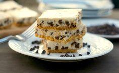 Skinny Chocolate Chip Cheesecake Bars