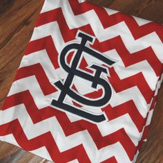 St. Louis Cardinals Chevron Scarf by JanieandKaye on Etsy, $22.00