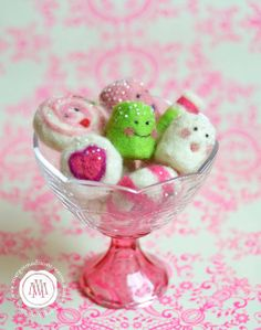 MargotMadison: Christmas Felted Candies