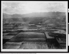 Early view of the Los Angeles River flowing freely through the Elysian Valley (between Elysian Park and Mount Washington), circa 1895-1915.