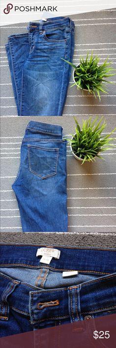 J Crew skinny jeans Great pair of simple J Crew skinny jeans that are in great condition. Skinny leg. Nice medium wash. J. Crew Jeans Skinny