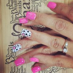 Thats why we built Bnails nail salon Hot Pink Nails, Pink Nail Art, Rose Nails, Heart Nails, Nail Designs Hot Pink, Cool Nail Designs, Diy Nails, Swag Nails, Anchor Nails