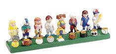 The whimsical Ceramic Children's Sports Menorah has a representation of each major sport for each night of Hanukkah. A kids favorite, the detailed work in this ceramic Menorah makes lighting more fun each night!