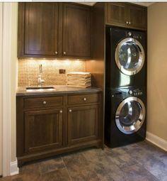 Idea for small laundry room