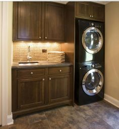Idea for small laundry room