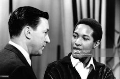 """Mike Wallace interviews Sam Cooke on his show PM East. The episode was titled """"The Sam Cooke Phenomenon"""" on June 1961 in New York City, NY. Get premium, high resolution news photos at Getty Images Mike Wallace, Stock Pictures, Stock Photos, Sam Cooke, Bbc Broadcast, Creative Video, Editorial News, Video Image, Save Image"""